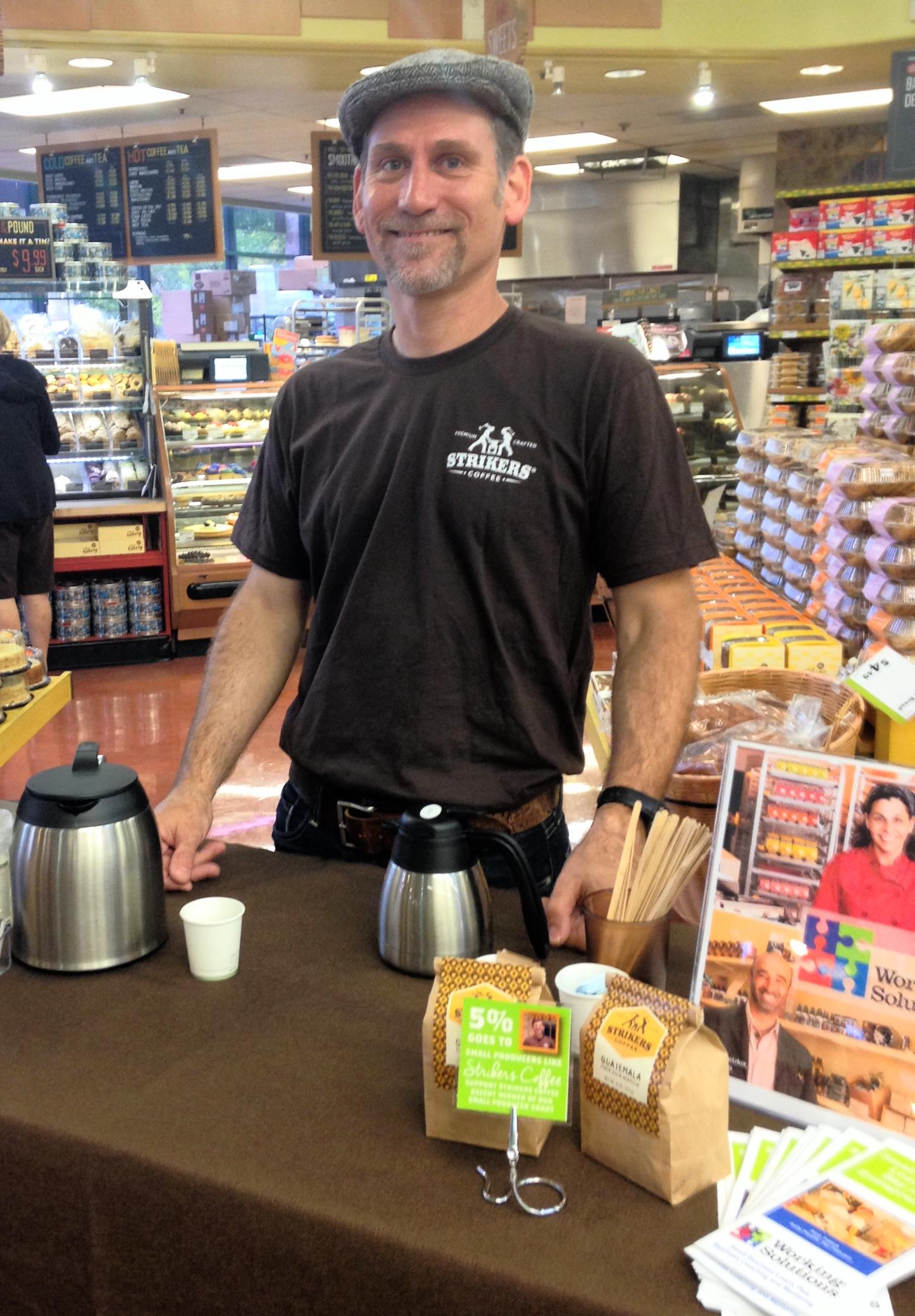 Grantwinner Jeff of Striker's Coffee at Whole Foods in San Ramon