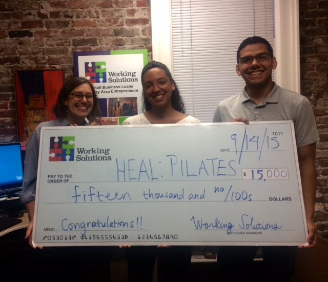 AYana of HEAL: Pilates with Business Consultant Jaclyn and Lending associate roberto