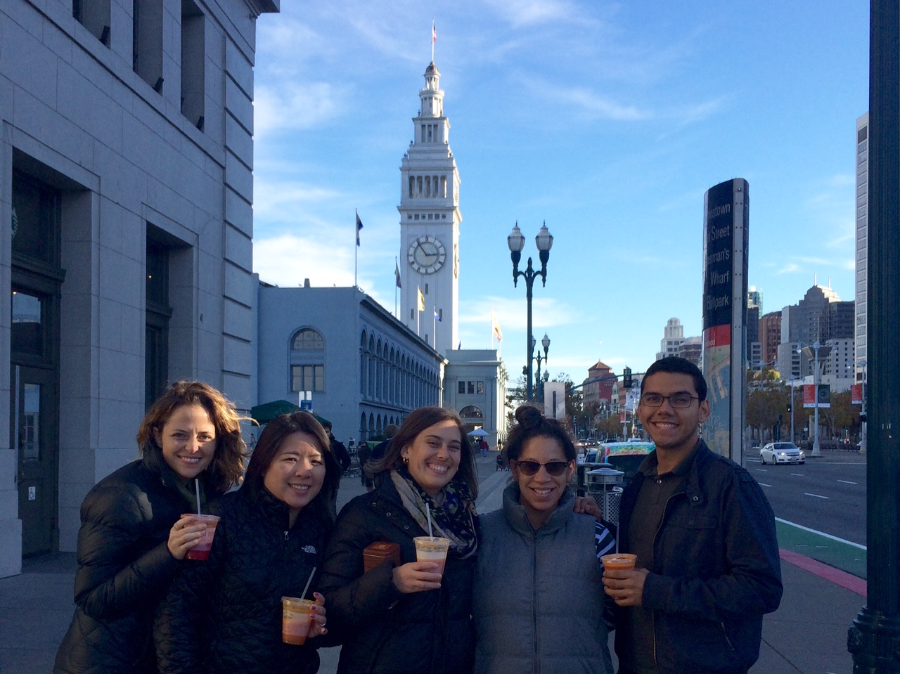 Working Solutions staff took a field trip to newly-opened San Francisco client Sow Juice-- seen here with owner Luisa