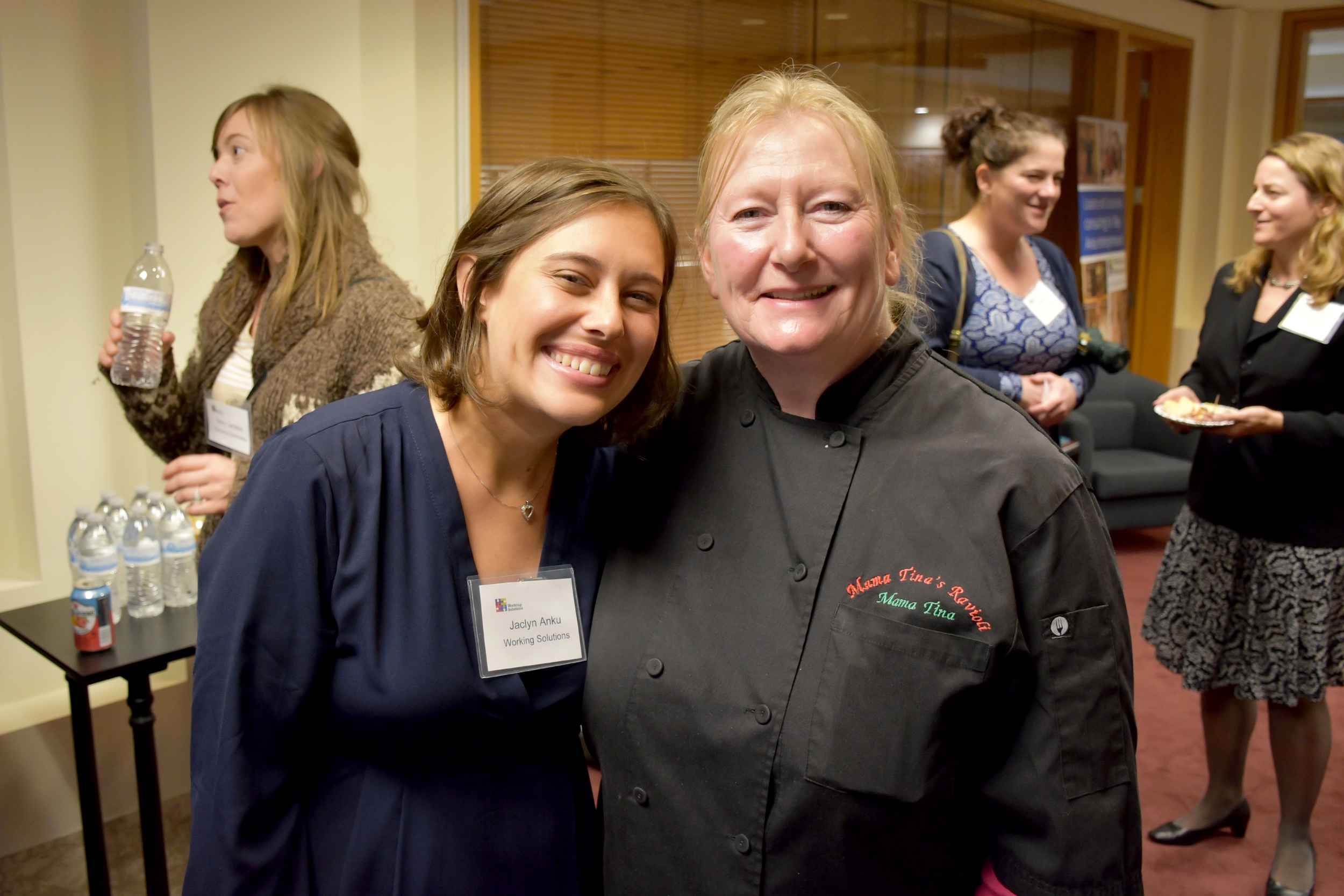 Working Solutions Business Consulting Officer Jaclyn Anku and client Tina Eliason, owner of Mama Tina's Ravioli