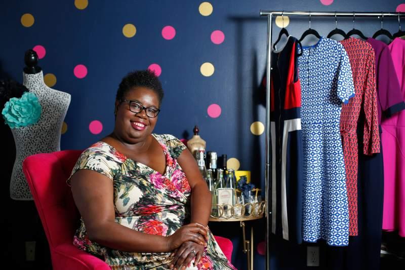 Santa Rosa-based personal stylist Malia Anderson. Photo via Sonoma Press-Democrat