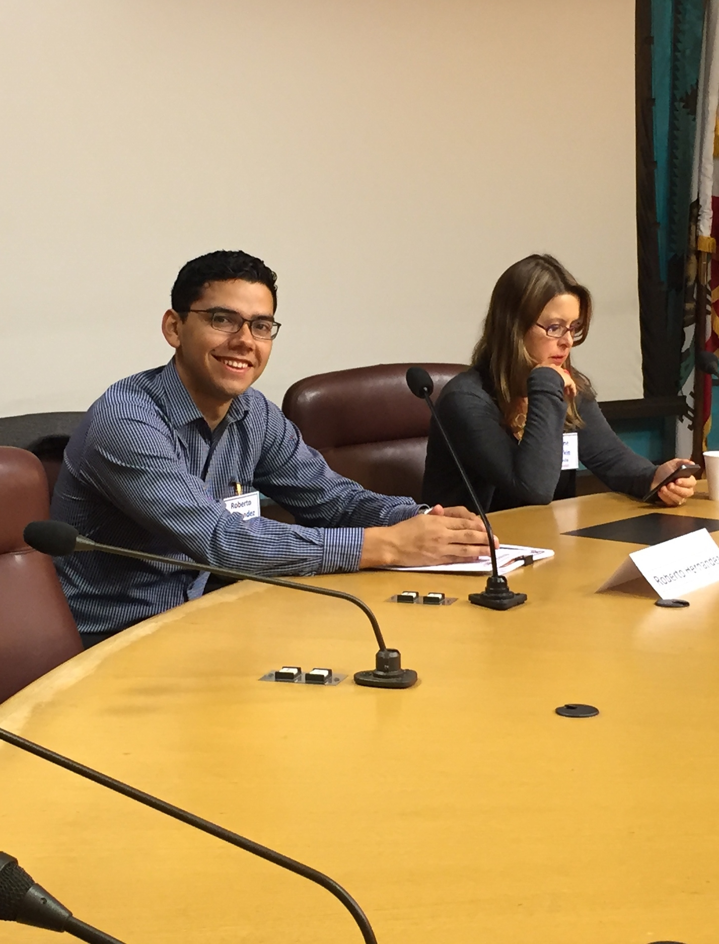 Working Solutions Business Lending Officer Roberto Hernandez at Small Business Week 2015. Meet him at the 'Latino Entrepreneurs: their Visions and Journeys' event on Tuesday evening