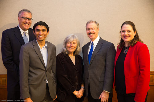 Ed Obuchowski, Lokesh Agoramurthy, and Roberta Achtenberg of Bank of San Francisco, Mark Quinn of the U.S. Small Business Administration, and Emily Gasner of Working Solutions