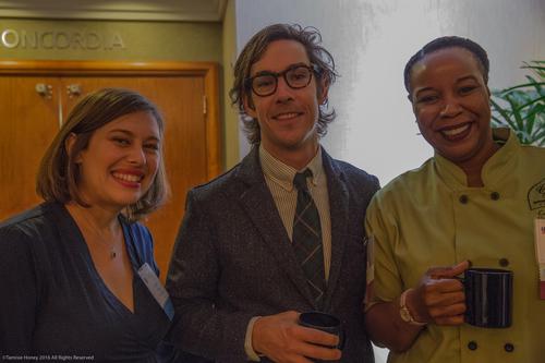 Jaclyn Anku of Working Solutions, Barrett Purdum of Taylor Stitch and Cheryl Johnson of CJ's Sweet & Savory Cobblers