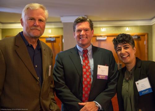 Gordon Dupries of FranNet USA, Michael Rice of Bridge Bank, and Sara Razavi of Working Solutions