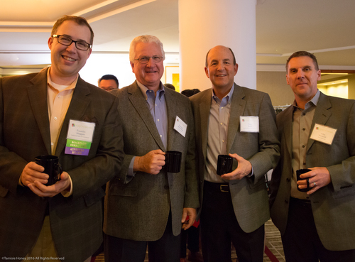 Franklin Haggas, George McCullogh, and Tom Park of California Bank of Commerce, and Mike Vanecek of TMC Financing