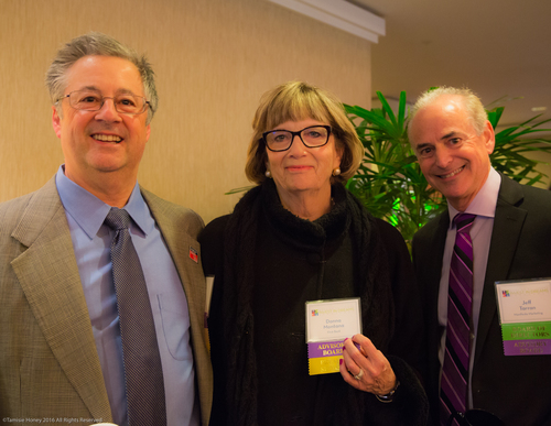 Greg Gener and Donna Montana of First Bank, Jeff Tarran of Manifeste Marketing