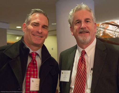 Ron Short of Bank of the West and Ken Mannina of Bridge Bank