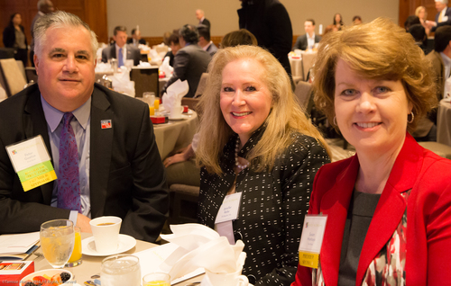 Peter Goetze of First Bank and Chairman of the Working Solutions Board of Directors, Jennifer Raike of Old Republic Title, and Susan Montoya of First Bank