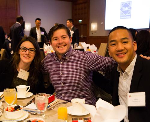 Cali Martin, Jackson Meredith, and Adam Thongsavat of Airbnb