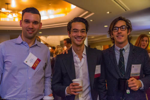 Working Solutions clients Anton Gogenko and Simeon Dacumos of Simply Me, and Barrett Purdum of Taylor Stitch