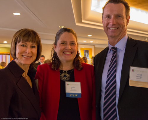 Gabrielle Tierney of Tierney Consulting Group, Emily Gasner of Working Solutions, and David Neagle of Presidio Bank
