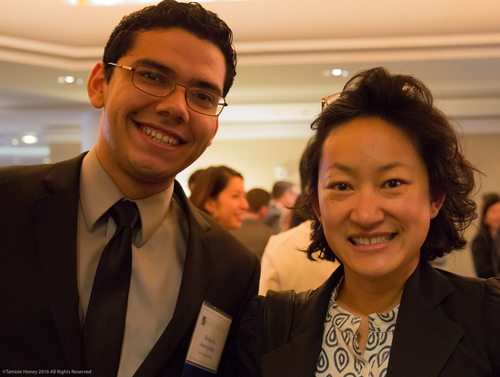 Roberto Hernandez of Working Solutions and Holly Lung of the City of San Francisco Office of Economic and Workforce Development