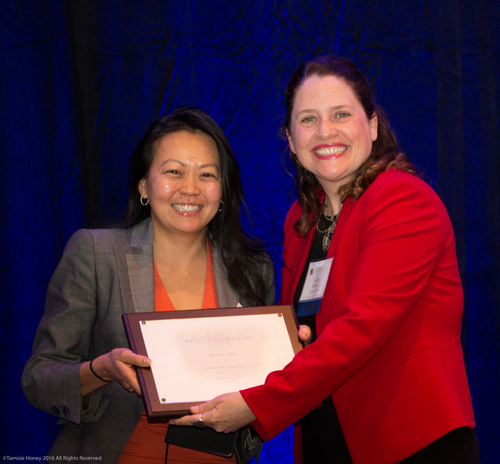Nona Lim of Nona Lim, 2016 Inspire Award Winner and Emily Gasner, CEO of Working Solutions