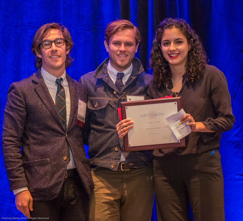 Barret Purdum and Michael Maher of Taylor Stitch, 2016 Imagine Award Winners, and Lorena Roman of Working Solutions