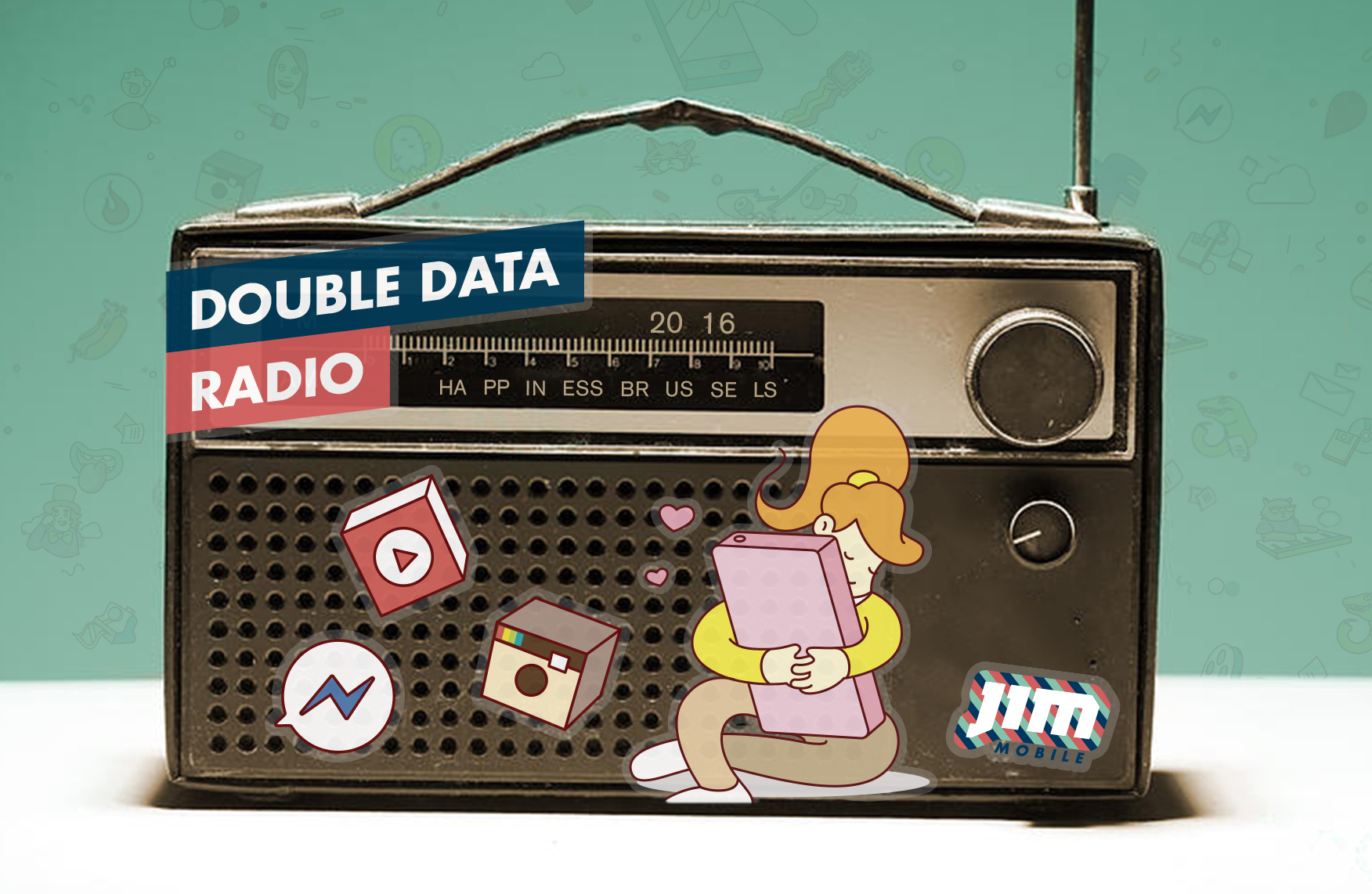 "<span style=""color: #777777"">📱Jim Mobile <B>Double Data</B> </span>- radio - 2016 Happiness"