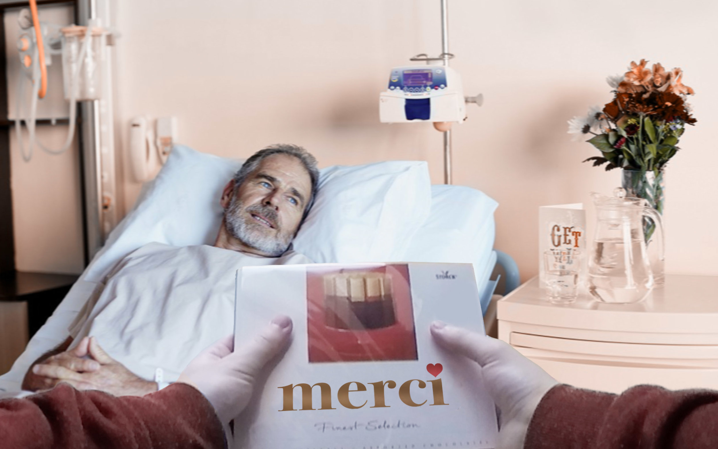 thePerfect�Gift - Removing the iconic Merci logo from its packagingto access entirely new business opportunities. Stunt for Merci - UC Sint-Lucas Antwerp 2011