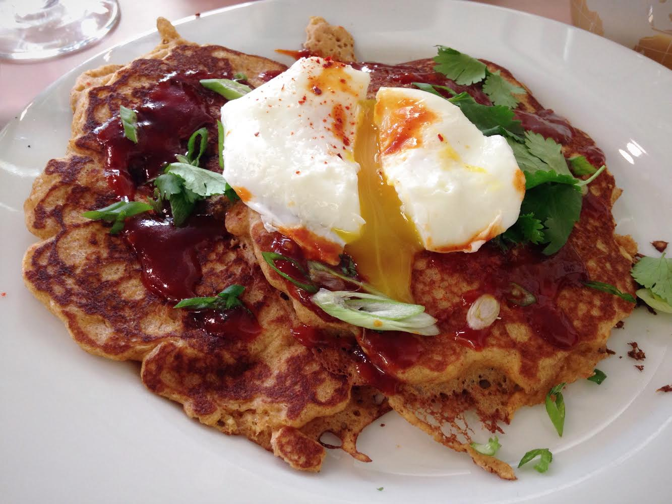Sir Rocha Says ATLAS EATS is the November Pick of the Month. This photo of the Kim Chee Pancakes is reason enough to tell you why!