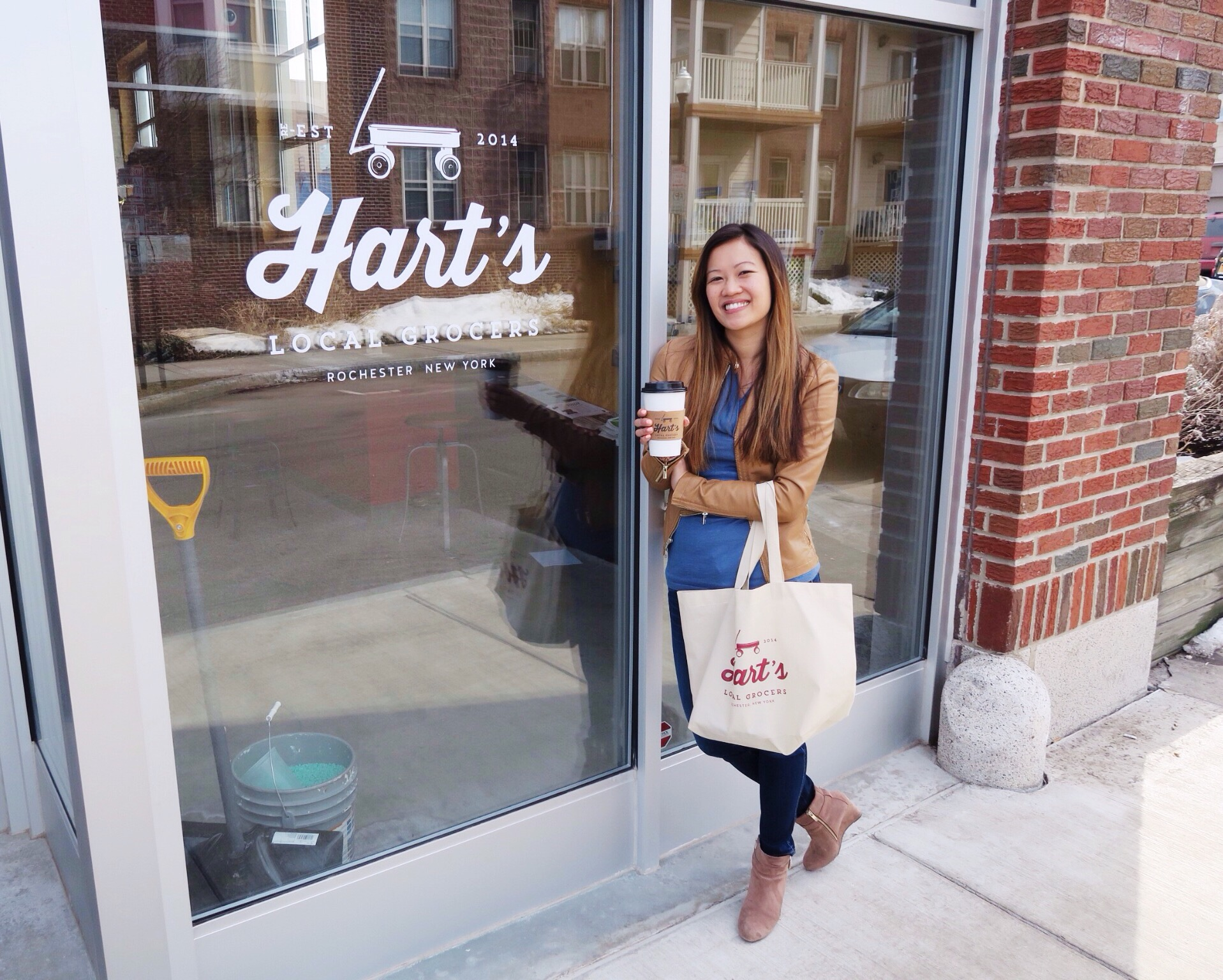 Being a total Hart's Geek with my shopping bag in one hand and Hart's Latte in the other. I also may drink from my Hart's coffee mug every morning at work.  Just saying.