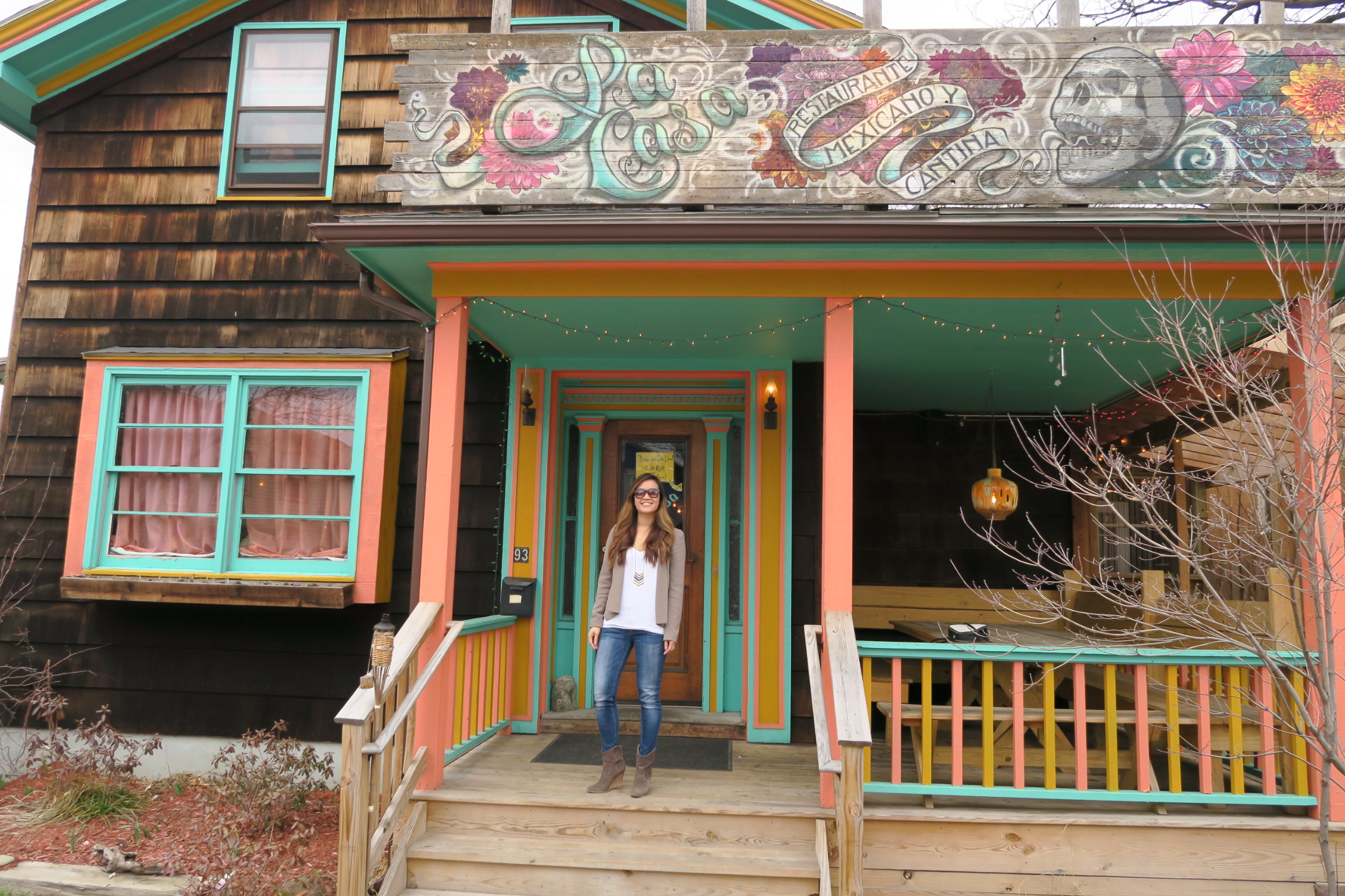 Sir Rocha Says standing in front of La Casa
