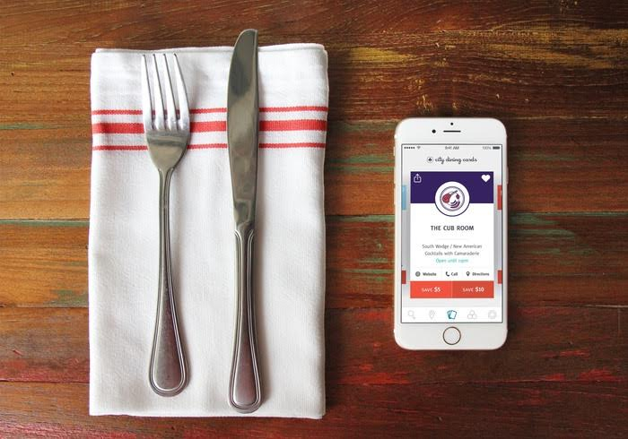 [Photo Credit: Rochester City Dining Cards]If you remember buying a deck of cards in recent years to help you get a discount at nearby restaurants, you are right on the money. The difference is that now instead of carrying the physical cards around,they built this really cool app that you can take with you whereever you go!