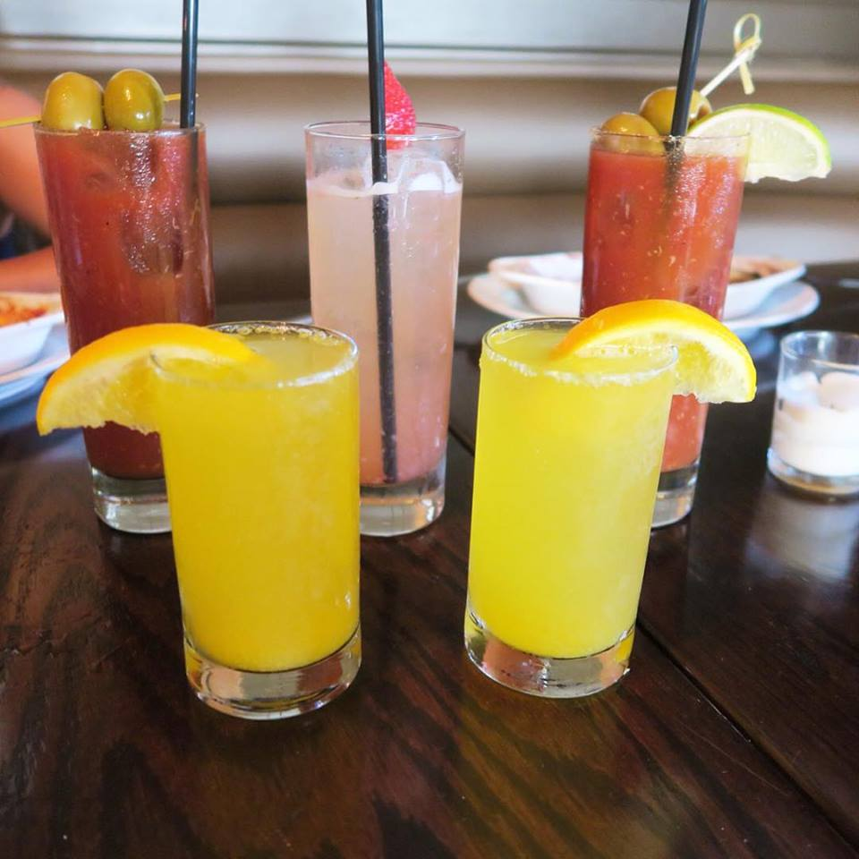 Sunday Brunch is way more colorful with Mimosas, Bloody Marys, & St. Germain Strawberry drinks. Oh my!