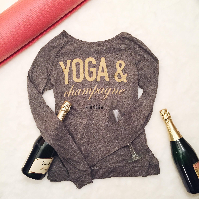 Hello Yoga Girl's Yoga & Champagne Shirt!