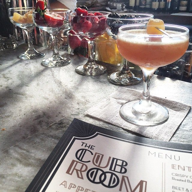 Drinking delicious cocktails at The Cub Room!