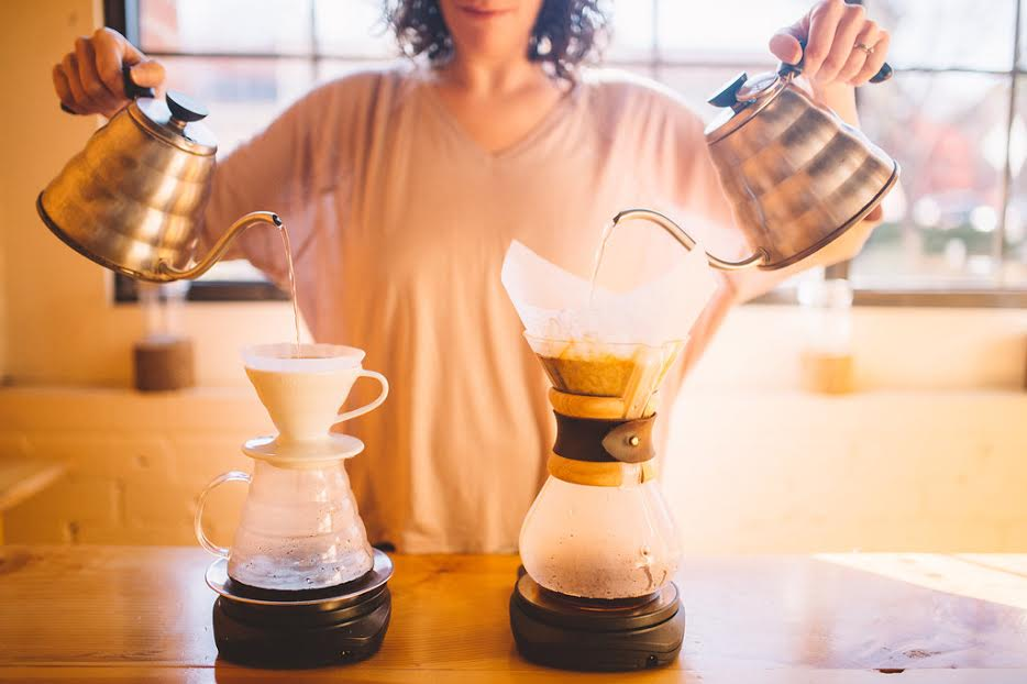 Learn to own that Pour-Over technique from our friends at Joe Bean! Photo Credit:  Rachel Liz Photography