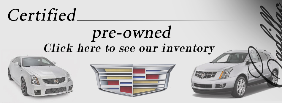 Cadillac ad for local dealership