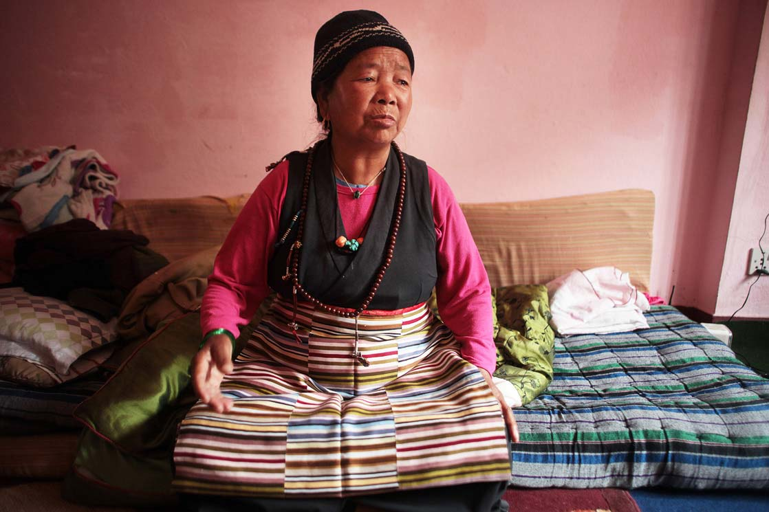 Lanjam Lama, 75 years old, the grand daughter of Bajay /   Lanjam Lama, 75 ans, la fille de Bajay