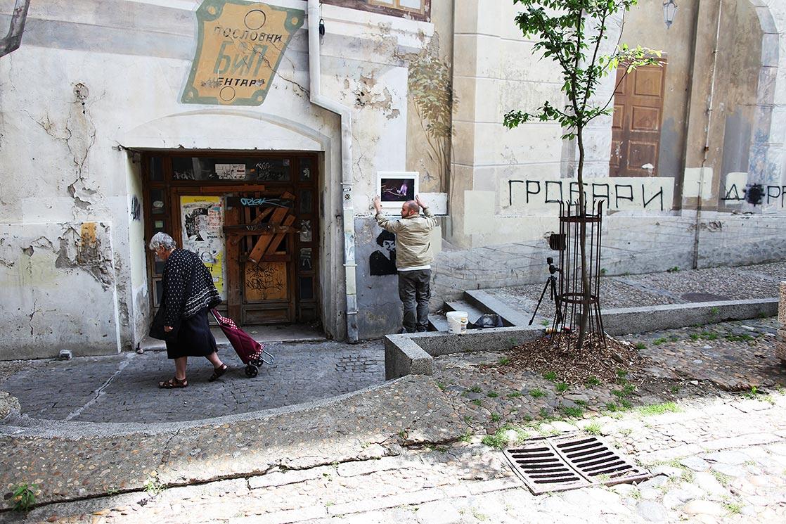 Collage in Skadarlika  (more in www.karesleroy.com/streetart )|SERBIA