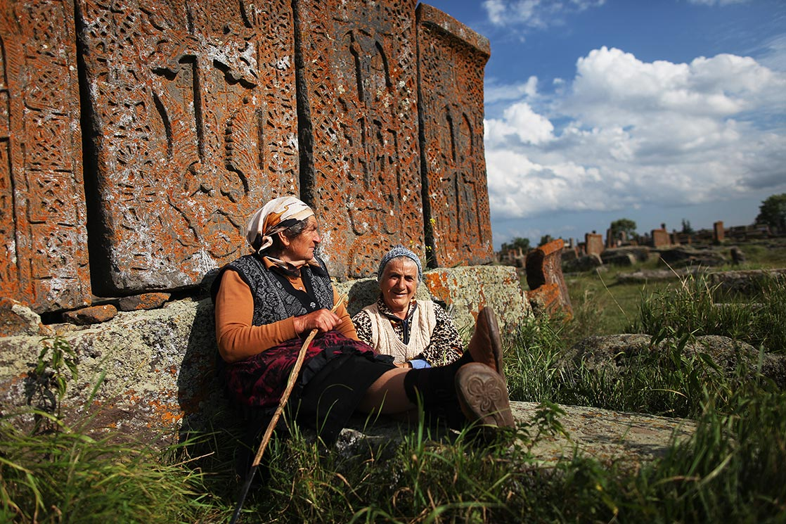 Noratus cemetery is a medieval cemetery with a large number of early  khachkars (a rmenian cross-stones)  | ARMENIA