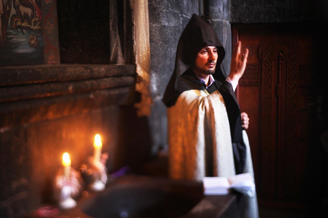 Priest of  Geghard  Monastery | ARMENIA