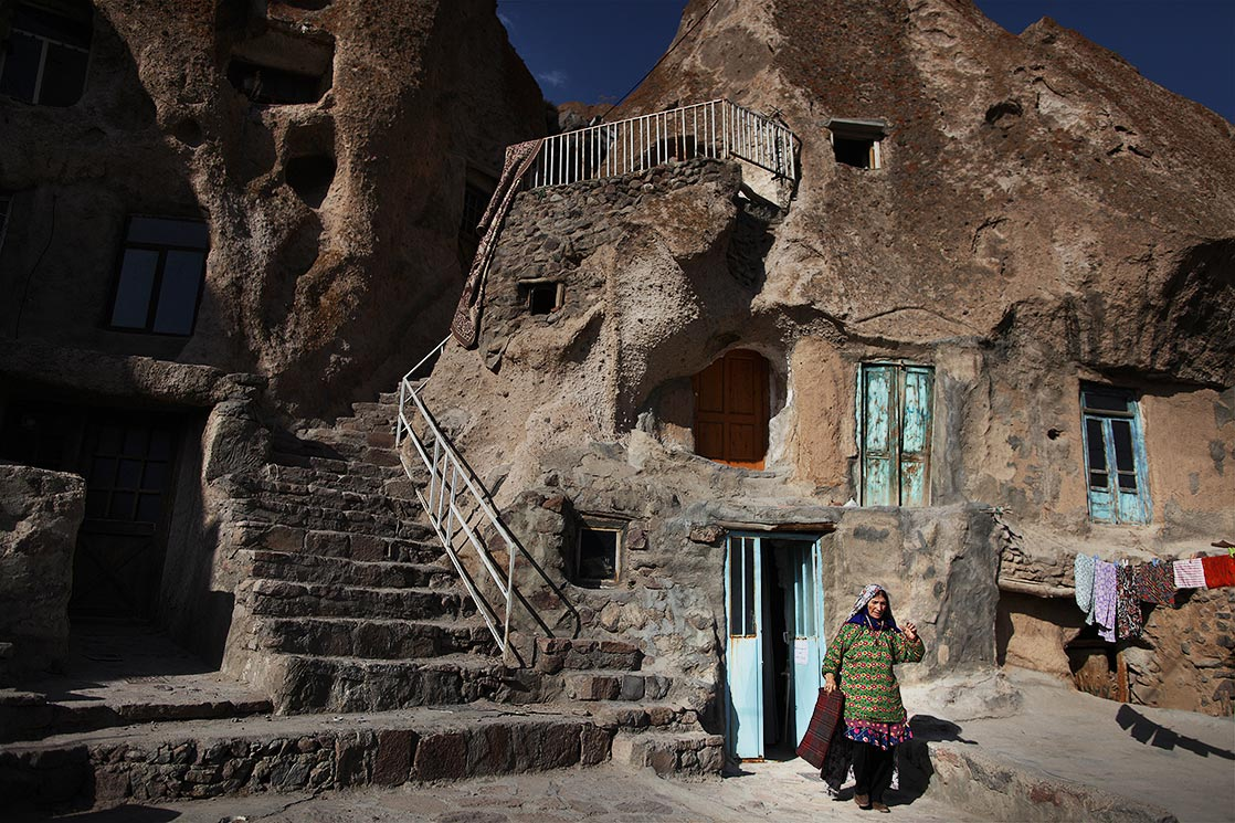 Kandovan  village is a wonderful example of manmade cliff dwelling which is still inhabited. The troglodyte homes are excavated inside volcanic rocks | IRAN