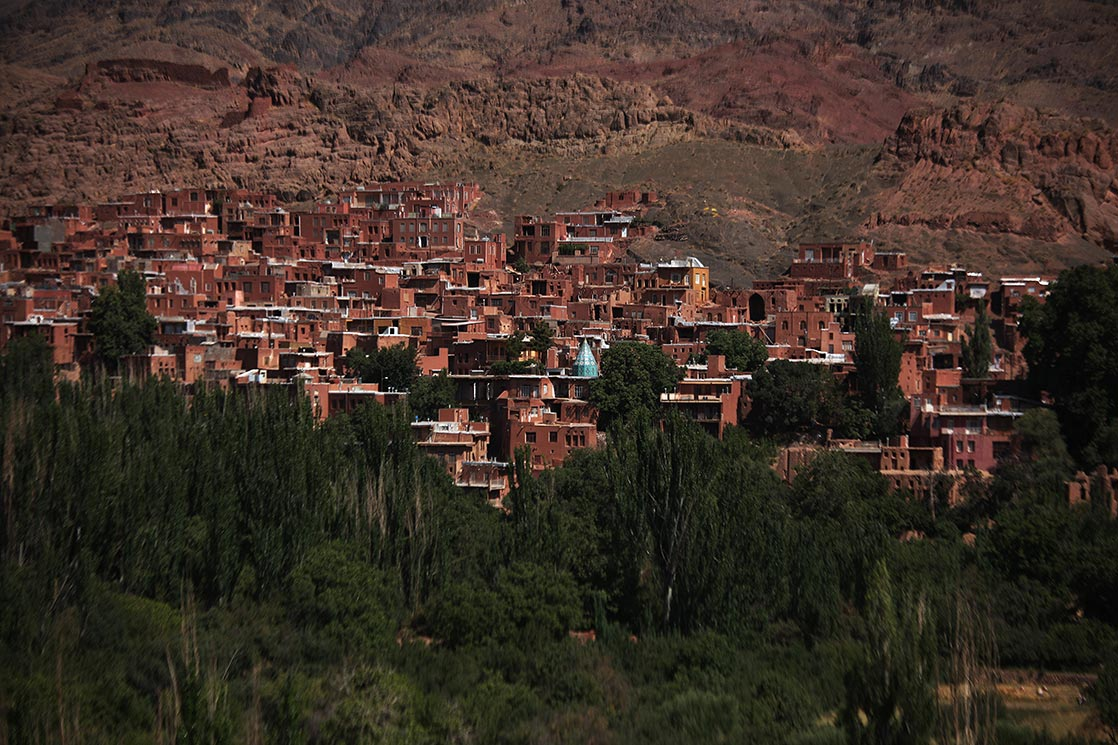 A view of  Abyaneh , one of the oldest village in Iran. It is characterized by a peculiar reddish hue | IRAN
