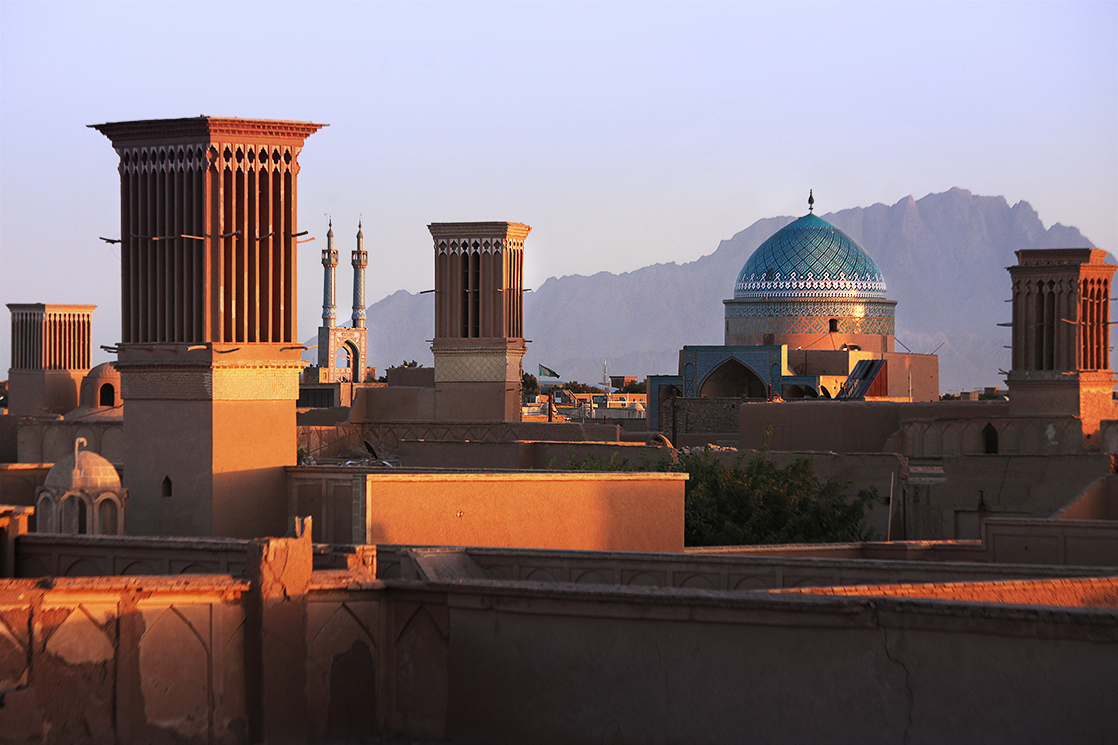 Skyline of  Yazd  during the sunse... Because of generations of adaptations to its desert surroundings,  Yazd  is an architecturally unique city | IRAN