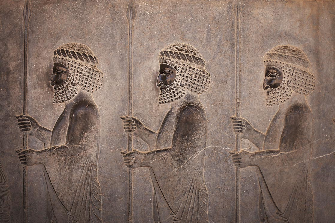 A  Persepolis  frieze depicting the Persian Immortals