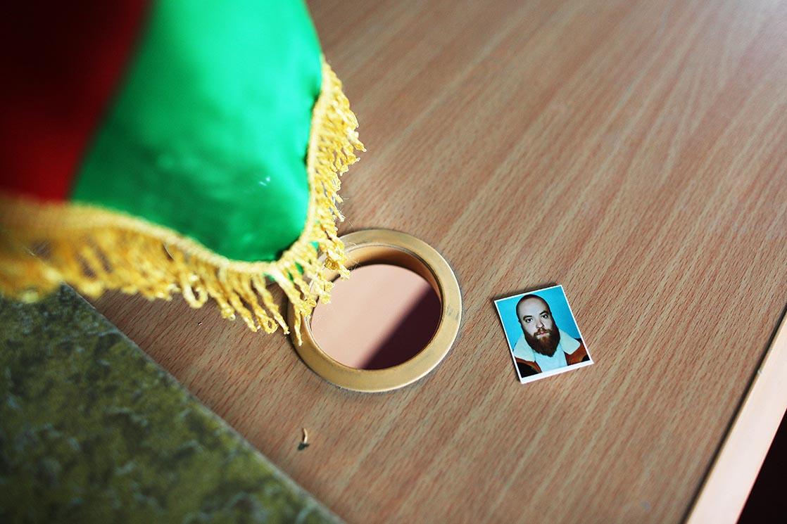 Border checkpoint of Sultan Ishkashim. Registration office. His official photograph is required by the authorities of the Badakhchan Province | Afghanistan /  Poste frontière de Sultan Ishkashim. Bureau des enregistrements. Sa photo officielle est réclamée par les autorités de la province du Badakhchan | Afghanistan