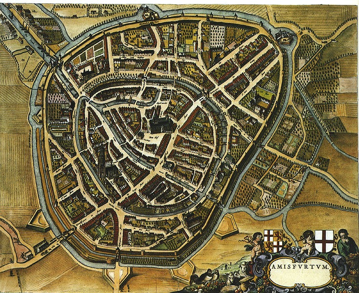 Historical old ass map of the city