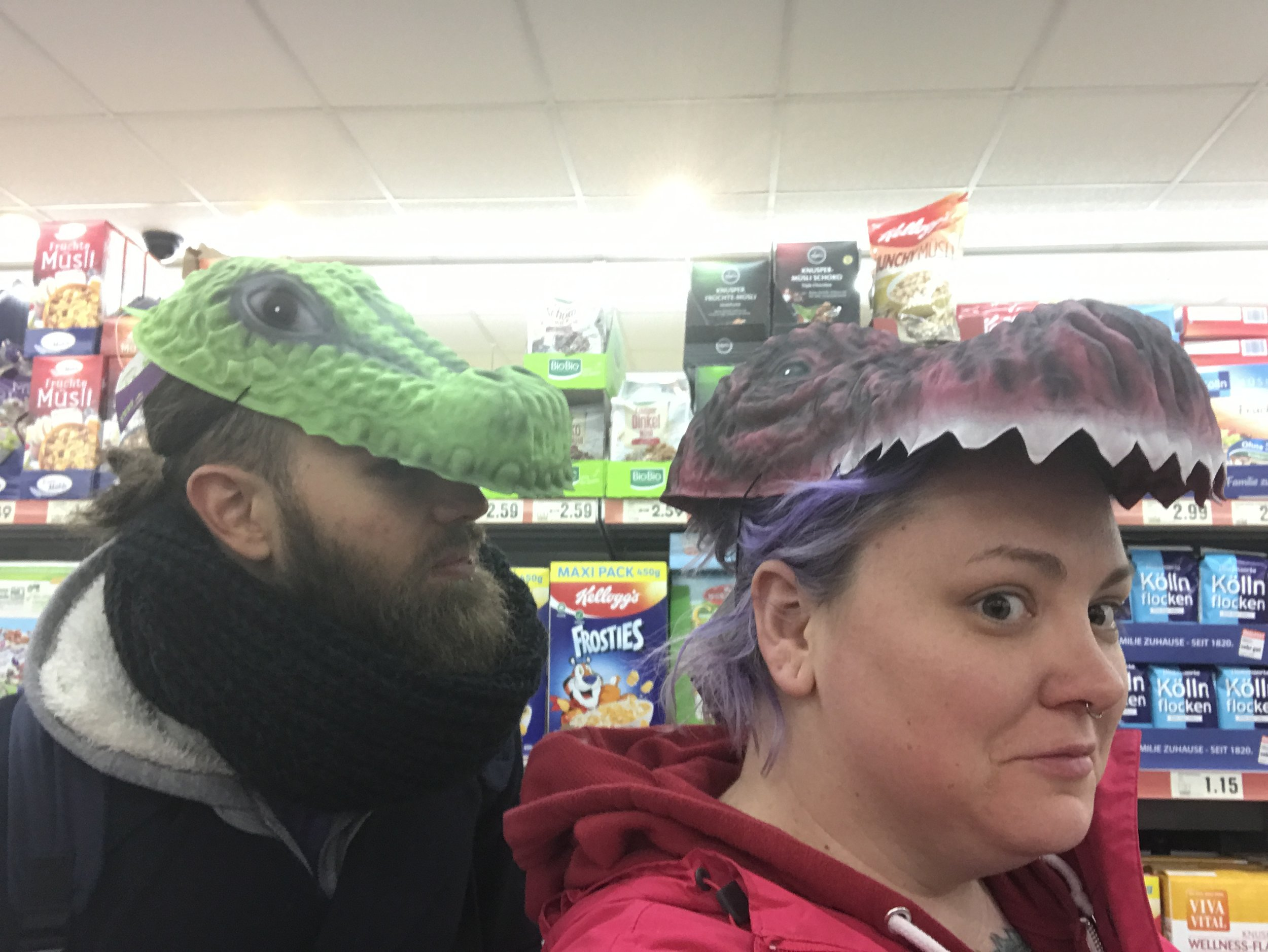 5 or 6 people saw us like this and gave us weird looks.