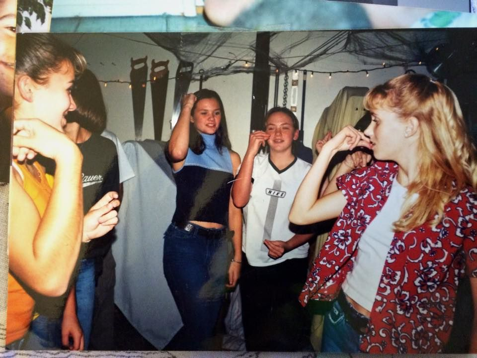 I had a Halloween party in my basement and we all did a dance from She's All That or something. lol.