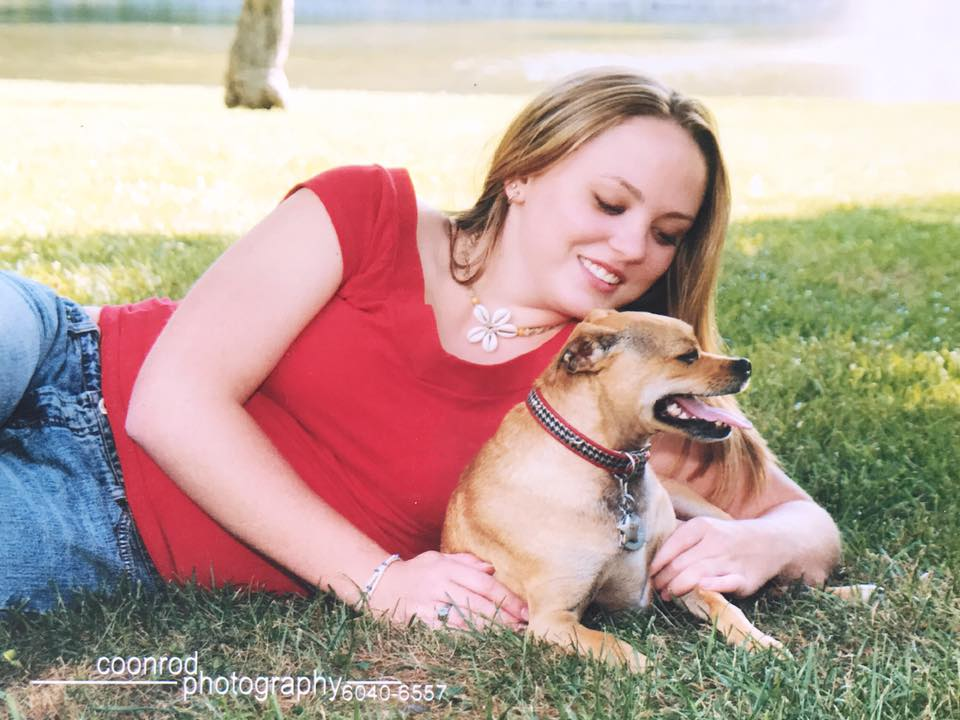 SENIOR PIX BB, with my dog Buddy