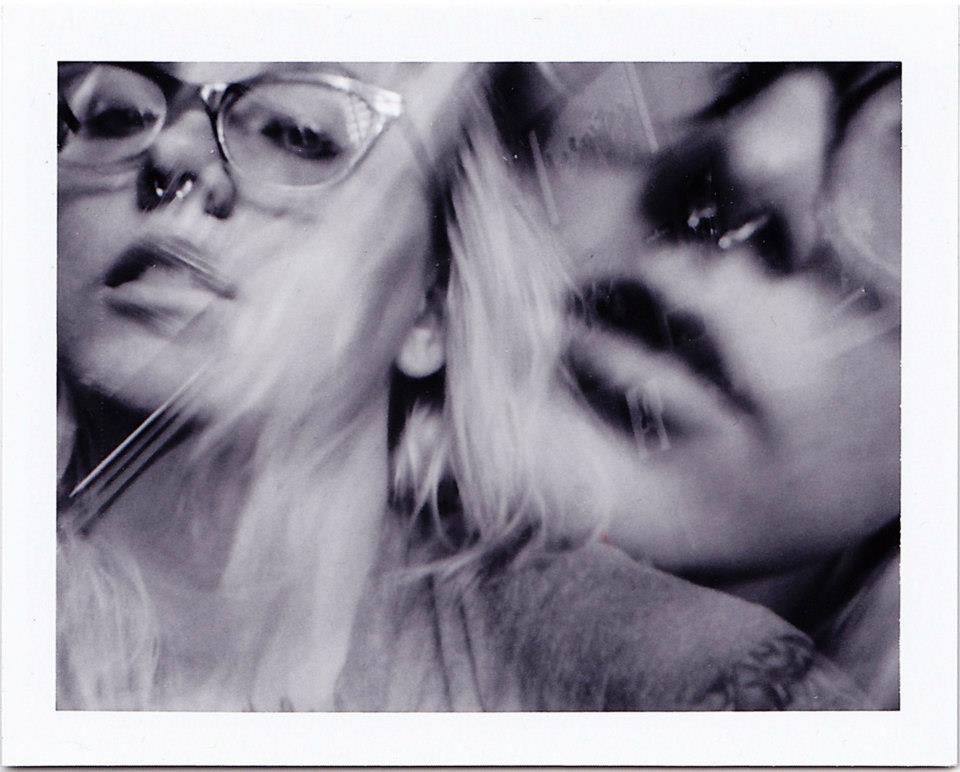 Double Exposure Self Portrait Polaroid. Taken by me.