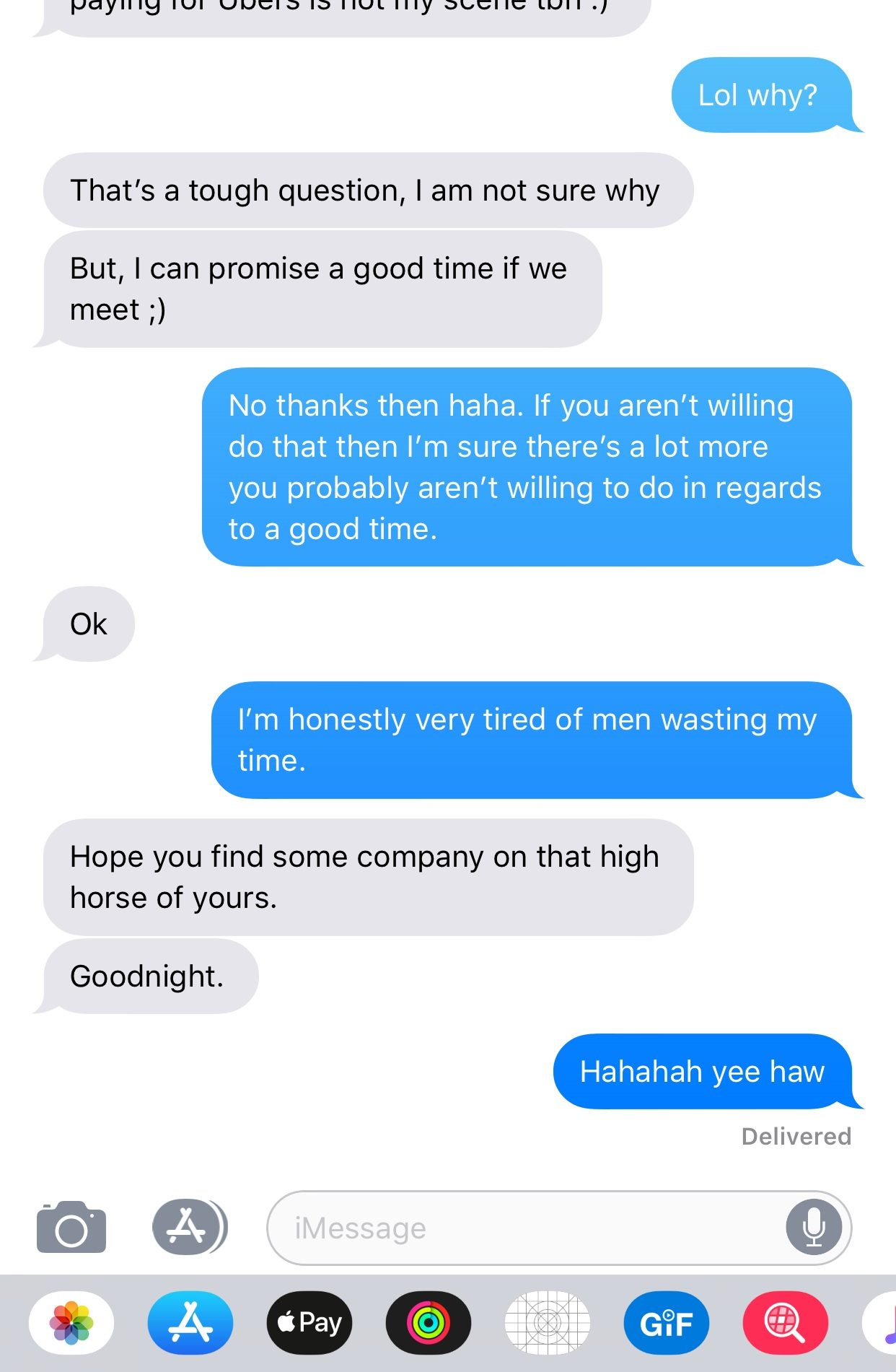 Sorry dude but I'm not just going to believe you're going to show me a good time when the majority of your sex doesn't know where the clit is.