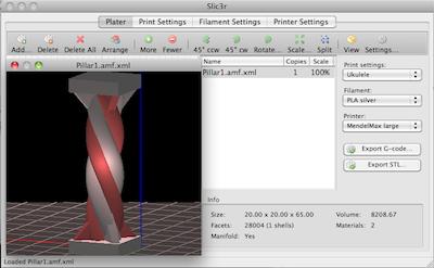 Slic3r: Gcode generator for 3D printers