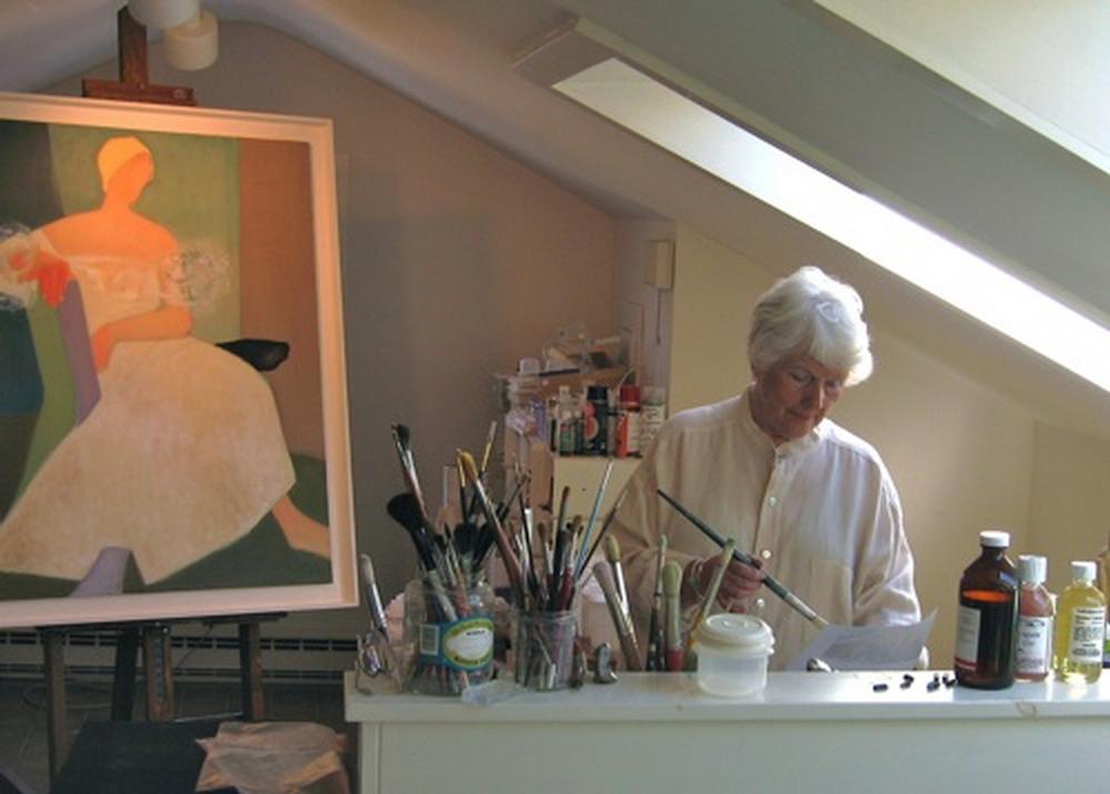 Rhea in her Cooperstown, NY studio