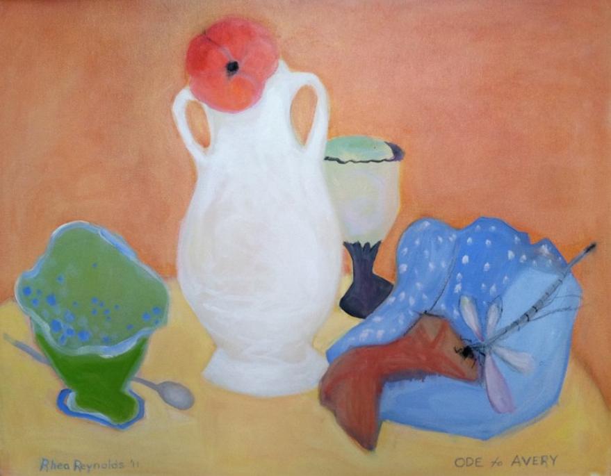 White Vase, (Ode to Avery) 2011, oil