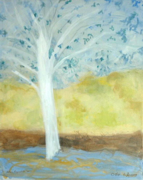 035 Shimmering Birch (Ode to Avery), 2009, oil, 30x24 in.