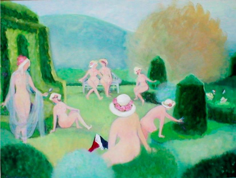 002 Visite de la Provence, 2001, oil, 36x48 in..png